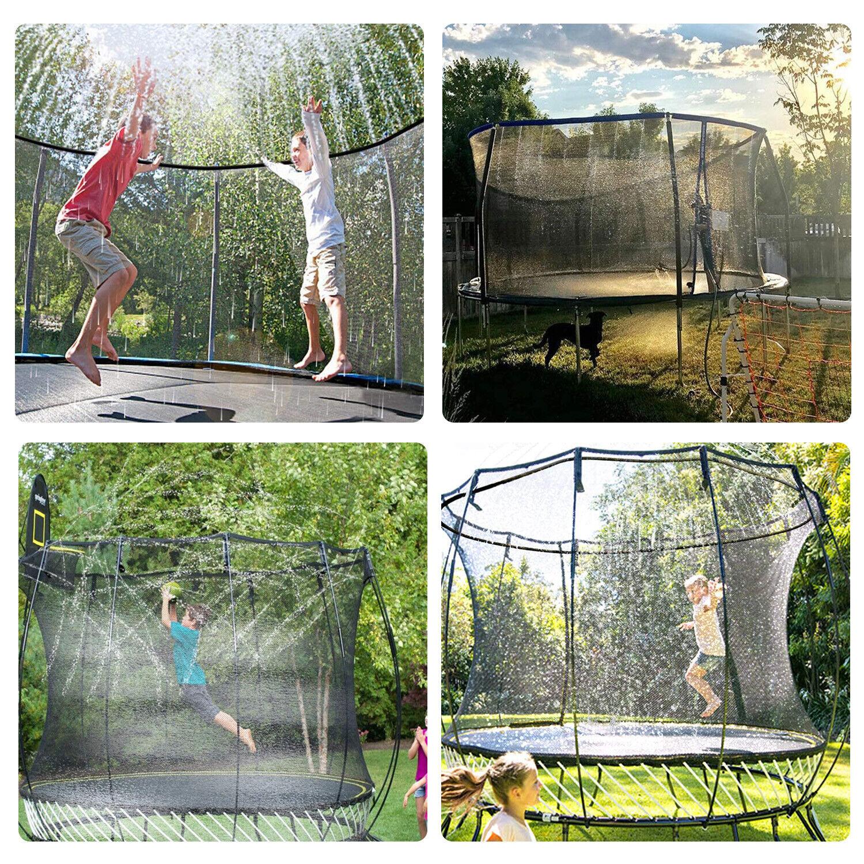 39ft/49ft Trampoline Sprinkler Kids Summer Outdoor Water Toy Fun Waterpark Spray Outdoor Toys & Structures