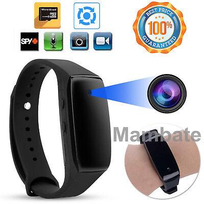 Used, 1080P Bracelet Smart Watch Wristband Camera Mini Spy Hidden DVR Video Recorder for sale  USA
