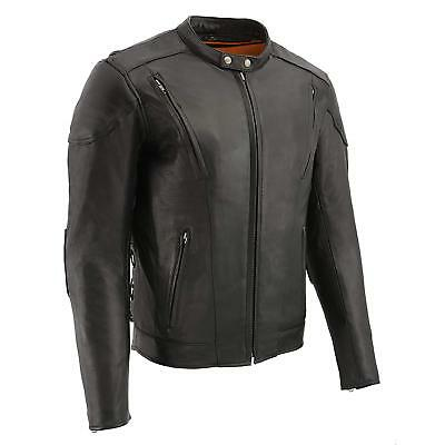Milwaukee Leather Men's Vented Scooter Jacket W/ Side Lace &