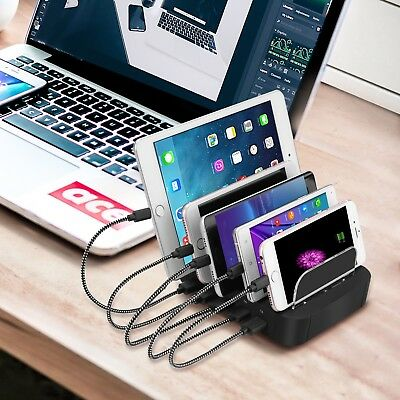 Charging Station, 5-Port USB Charging Dock Cell Phone Docking Station with iSmar