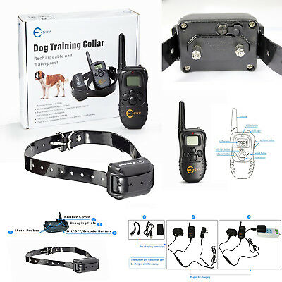 Dog Training Collar Remote Electric Shock Kit For Medium Large Dogs Big Pet Bark