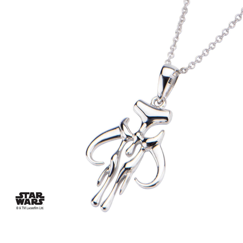 NEW Star Wars Women's Sterling Silver Mandalorian Symbol Pen