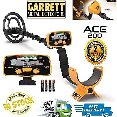 Garrett Ace 200 Metal Detector with Submersible Coil & Batteries - Free Shipping