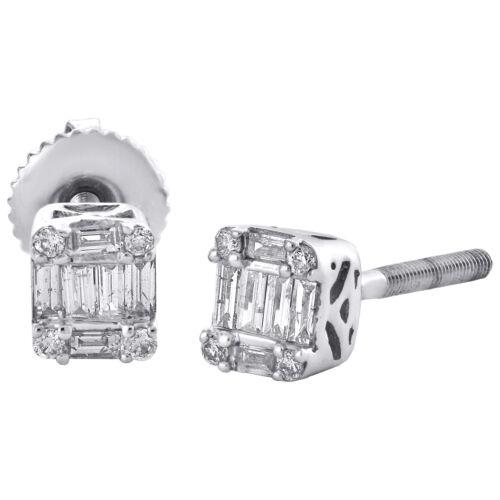 Vis-Back 1//3 Ct Round Cut 14K or Blanc Diamant Clous D/'oreilles.