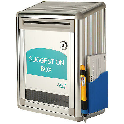 Mcb Aluminum Suggestion Donation Boxwpen And Pack Of Suggestion Sheets
