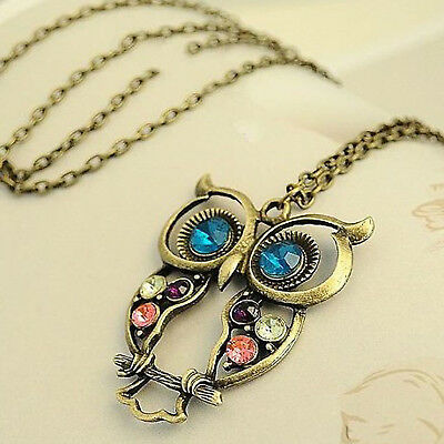 Vintage Women's Pendant Necklace Peacock Feather Long Chain Sweater Jewelry Gift