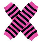 PINK Striped Leg Warmers for Women