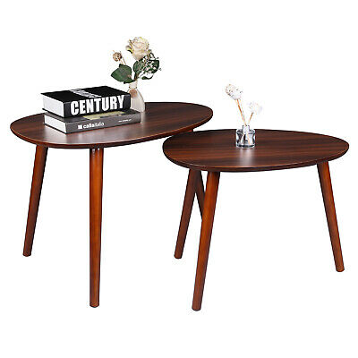 Living Room Coffee Table 2 Pcs Stacking End Side Nightstands  Millennium Cherry Cherry Living Room End Table