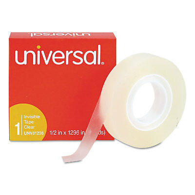 """Universal Invisible Tape 1/2"""" x 1296"""" 1"""" Core Clear 12/Pack 81236VP"""