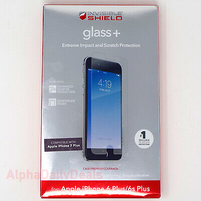 ZAGG Invisible Shield Glass+ Screen Protector Apple iPhone 6 6s 7 Plus Clear