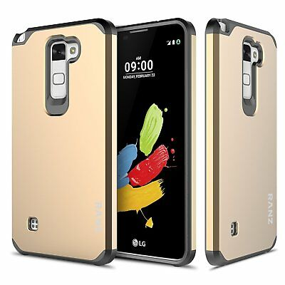 LG Stylo 2 / Stylus 2 Case, Impact Dual Layer Shockproof Bumper Case - Gold