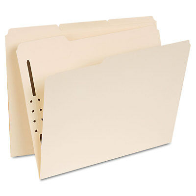 UNIVERSAL Manila Folders One Fastener 1/3 Tab Letter 50/Box 13410 Manila Folders 1 Fastener