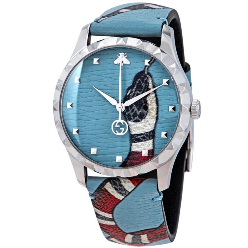 Gucci YA1264080 Men G-Timeless Blue Quartz Watch