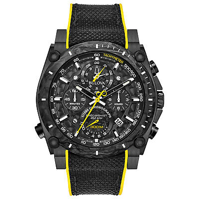 Bulova Precisionist Men's 98B312 Quartz Chronograph Black Rubber Strap Watch