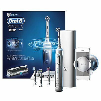 Articulated-B Genius 9000 Electric Rechargeable Toothbrush - White w/Bluetooth ✔NEW✔