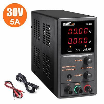Dc Power Supply Variable Tacklife 4 Digital Lcd Display 0-30v0-5a Switching