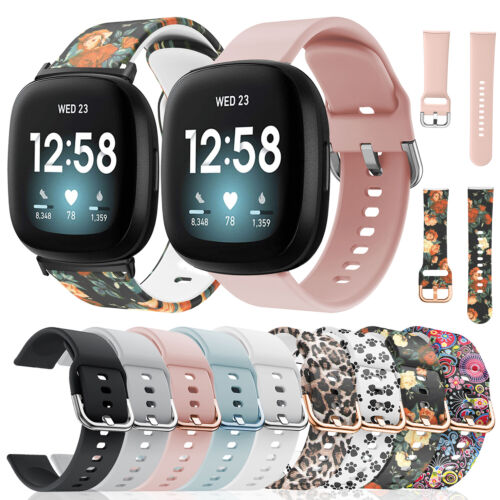 For Fitbit Versa 3 / Sense Replacement Silicone Watch Wrist Strap Band Wristband