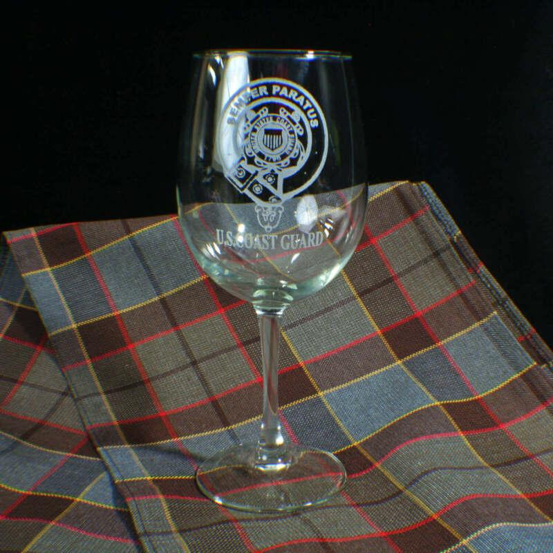 U.S. Coast Guard Wine Glass