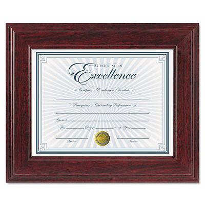 Executive Mahogany Document Frame - Dax Executive Document/Photo Frame Desk/Wall Mount Plastic 8 1/2 x 11 Mahogany