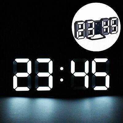 Electronic Alarm Display 3D LED Digital Clock Table Wall Clock Dimmer Modern...