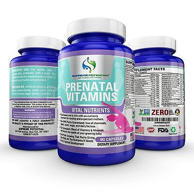 Supreme Potential The Best Prenatal Vitamins  3 month supply Whole-Food Based