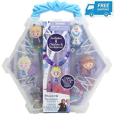 Disney Frozen 2 Necklace Activity Set Best Gift Kids Girl Toy Cool Carry