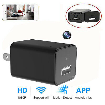 WIFI Hidden Mini Spy Camera Wall Charger Wireless HD 1080P USB Phone
