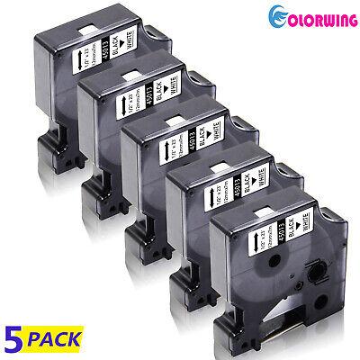 5pcs D1 45013 S0720530 12mm Label Tape Cassette Compatible For Dymo Labelmanager