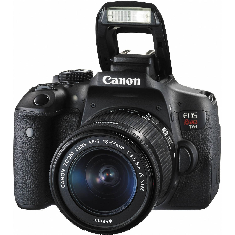 Canon Eos Rebel T6i / 750D Dslr Camera +18-55mm Lens