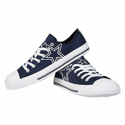 Nfl Dallas Cowboys Mens Big Logo Low Top Canvas Shoes Sneakers