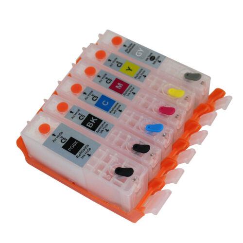 For CANON MG7720 TS8020 TS9020 Refillable Ink Cartridge PGI-270 271 Empty 6pcs