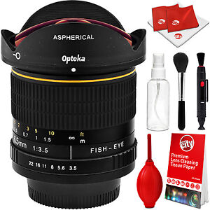 Opteka 6.5mm Fisheye Lens for Nikon D7200 D7100 D5600 D5500 D5300 D3400 D500