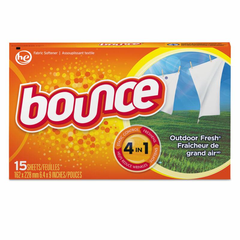 Bounce Fabric Softener Sheets Outdoor Fresh 15/Box 15 Box/Carton 95860CT