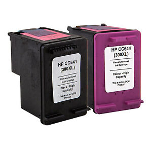 2 ink cartridges for hp 300xl black colour f4500 f4580. Black Bedroom Furniture Sets. Home Design Ideas