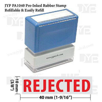 Rejected Stamp Text Jyp Pa1040 Pre-inked Rubber Stamp Red Ink