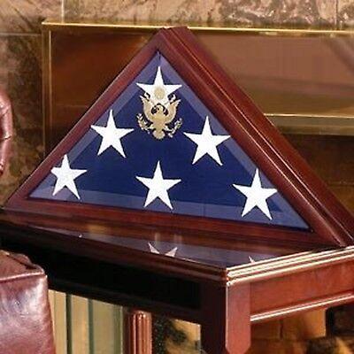 U.S. Military Burial Flag Box Handmade by Veterans Walnut Hardwood Casket Case (Us Flag Display Case)