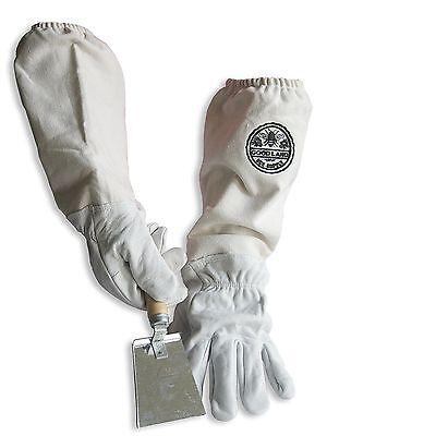 Cotton Sheepskin Beekeeping Medium Gloves W Honey Comb Shovel Gl-glv-shvl-med