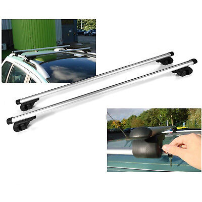 "Adjustable 53"" Car SUV Aluminum Roof Racks Crossbar Top Carrier Rail With Lock"