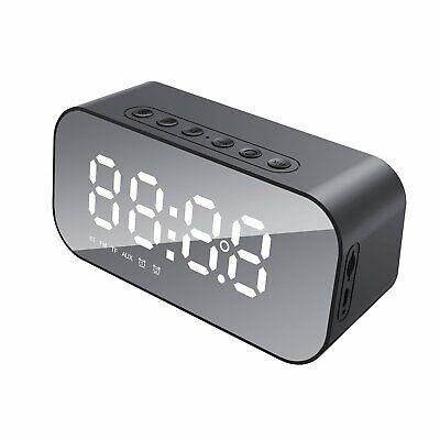 Digital Mesita Radio Fm Reloj Despertador Grande Pantalla LED Bluetooth Altavoz