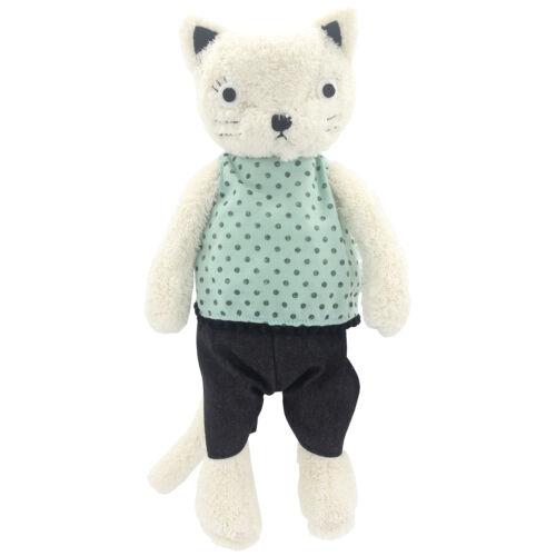 JIARU Stuffed Animals Toys Cat Plush Soft Adorable Dressed Dolls (White 13 Inch)