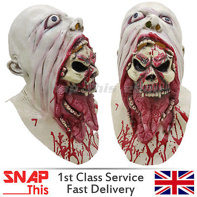 Zombie Mask Cosplay Latex Full Face Horror Adult Halloween Party Walking Dead - Halloween Latex Masks Uk