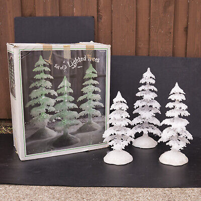 Costco Large Set of 3 Color Changing LED Ice Crystal Light Up Trees Christmas