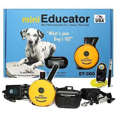 E-Collar Technologie Mini Educator ET-300 Remote Off Leash Dog Training 1/2 Mile