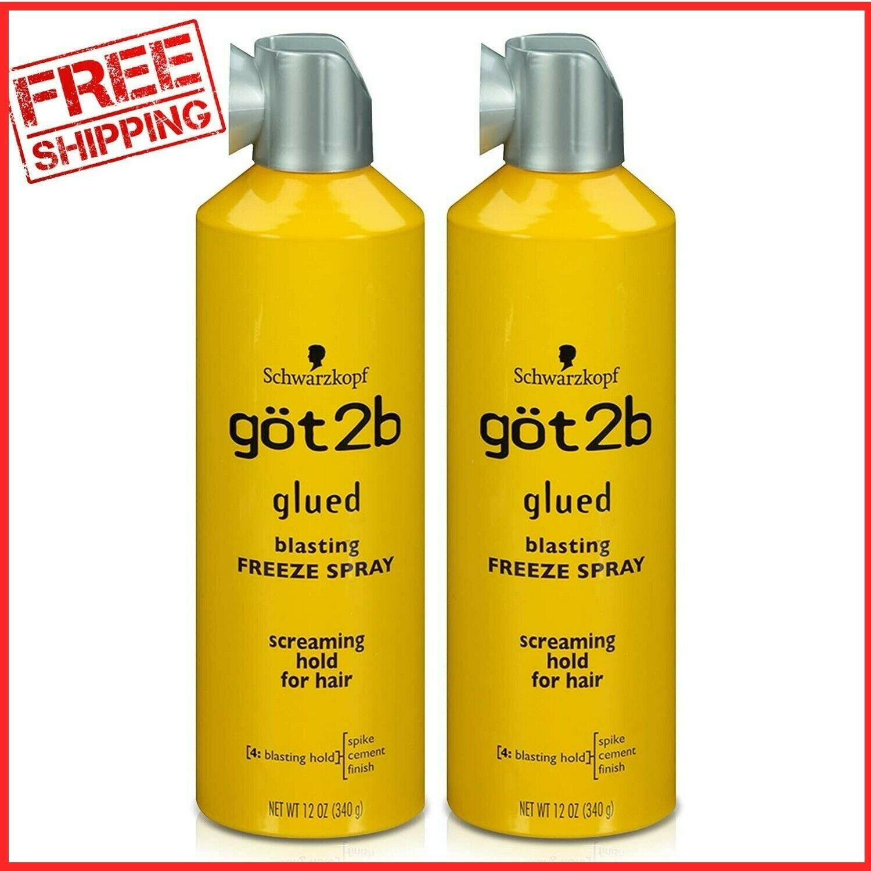 2 Pack Got2b Schwarzkopf 12oz Glued Blasting Freeze Hairspra