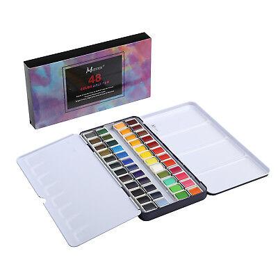 1 MEEDEN Art Watercolor Tin Palette Paint Set with 48 Colors Half Pan Paints -