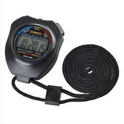Sport Stopwatch Handheld Digital Clock Chronograph Large LCD Alarm AM/PM Display