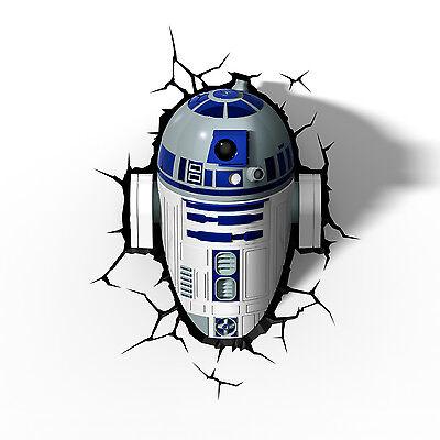 Star Wars 3D Nachtlicht R2D2 LED Lampe 3D Light FX batteriebetrieben Wandtattoo online kaufen