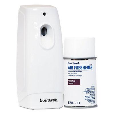 Boardwalk Air Freshener Dispenser Starter Kit, White, Cinnam