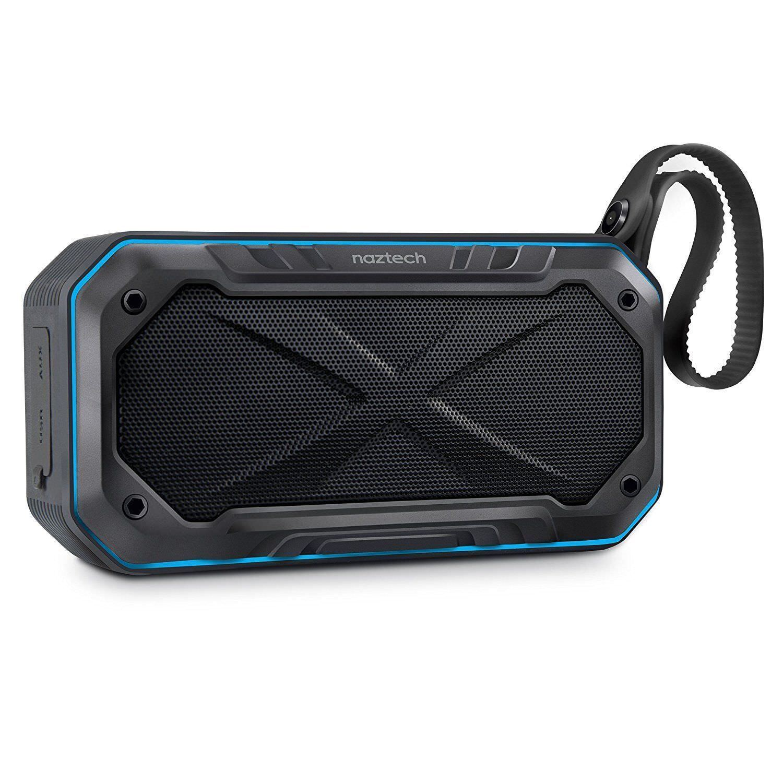 Naztech Portable Waterproof Bluetooth Wireless Speaker, Moun