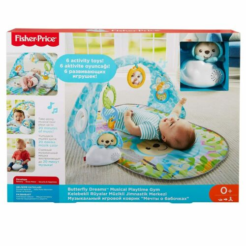 Fisher-Price Butterfly Dreams Musical Playtime Gym with Take-along musical cloud